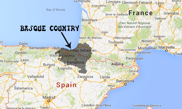 Basque Map Of Spain.Basque Country Spain Fellowship Of Evangelical Churches