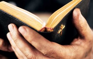 Church Planting - Bible in hands